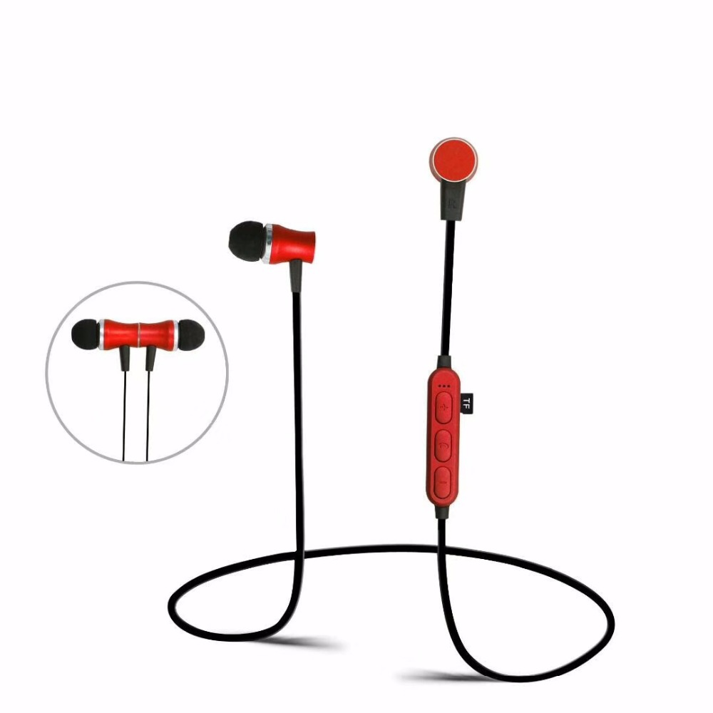 TF card slot MP3 player FM radio Bluetooth Earphone Wireless Stereo Music Sports Earphone Headset Noise Reduction With Mic headphone bluetooth wireless foldable sport handsfree headset with microphone fm radio mp3 player tf card wired stereo earphone