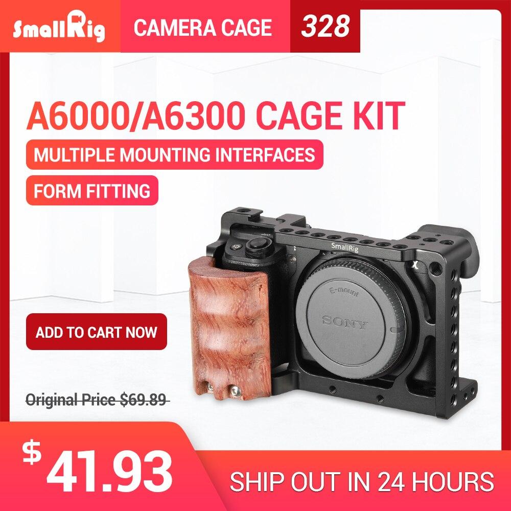 SmallRig для sony a6000 аксессуары для sony A6300/A6000/ILCE-6000/ILCE-6300 клетка ж/деревянная ручка двойная камера Rig-2082