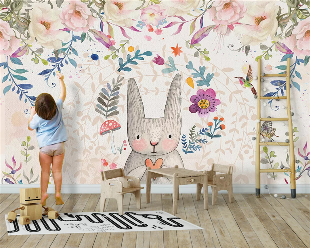 Beibehang Custom Nordic Fashion Wallpapers Animal Balloons Kids House Background Papel De Parede Wall Papers Home Decor Behang
