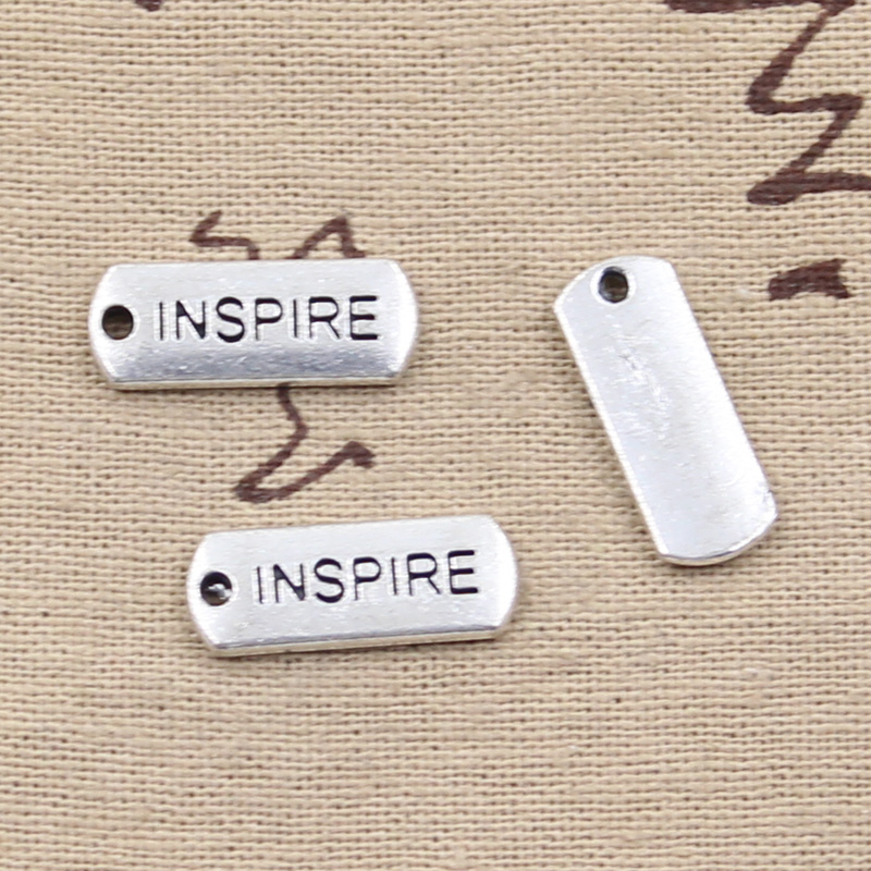 6pcs Charms plates inspire 21*8mm Antique Making pendant fit,Vintage Tibetan Silver,DIY bracelet necklace