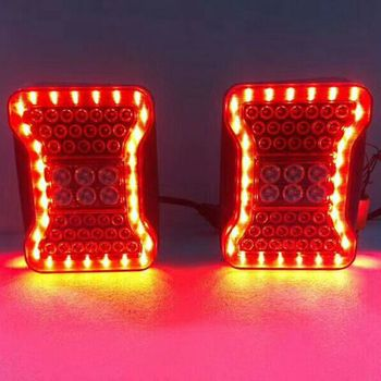 Pair Red LED Tail Lights for Jeep Wrangler 2007 - 2016 Smoke Taillights For Jeep Wrangler JK JKU Sports, Sahara, Freedom Rubicon