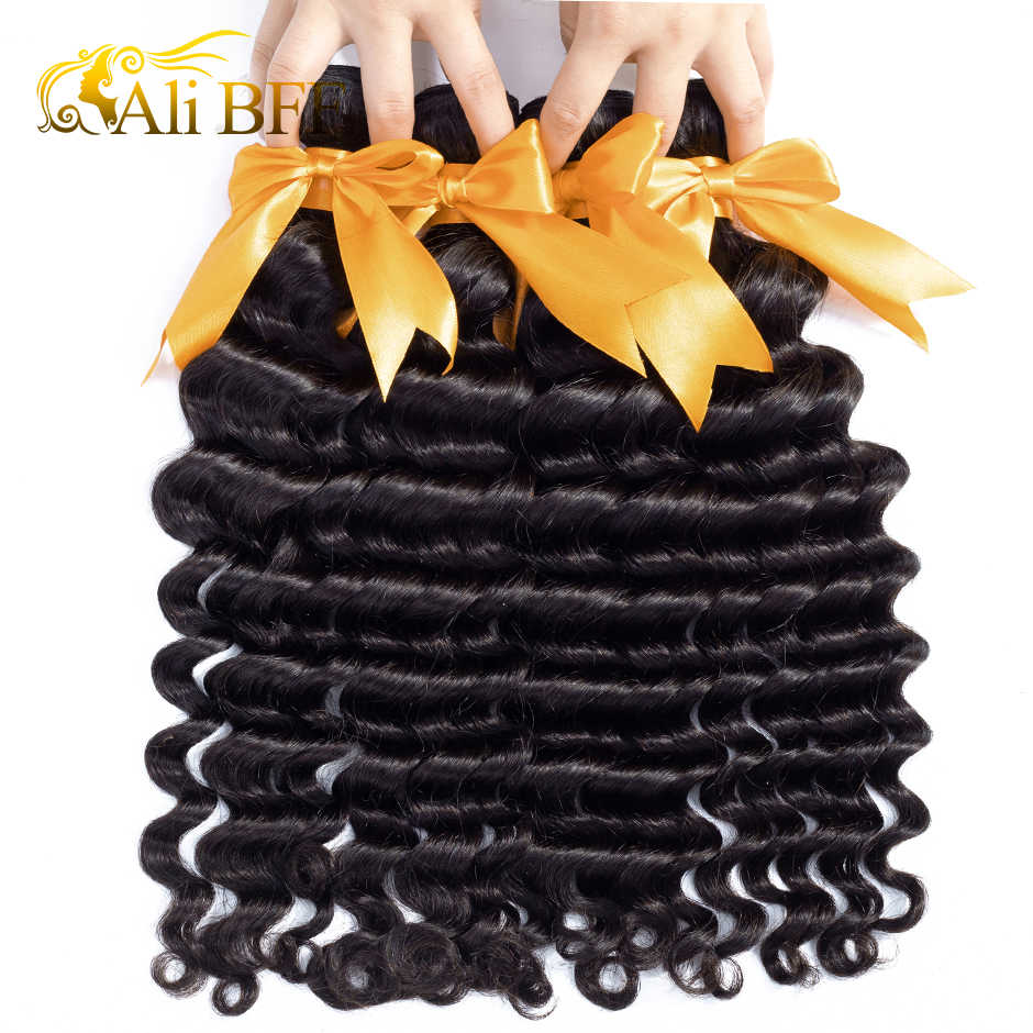 ALI BFF Hair Loose Deep More Wave Brazilian Hair Weave Bundles Remy Human Hair Weaving Extensions Can Buy 3 Bundles With Closure