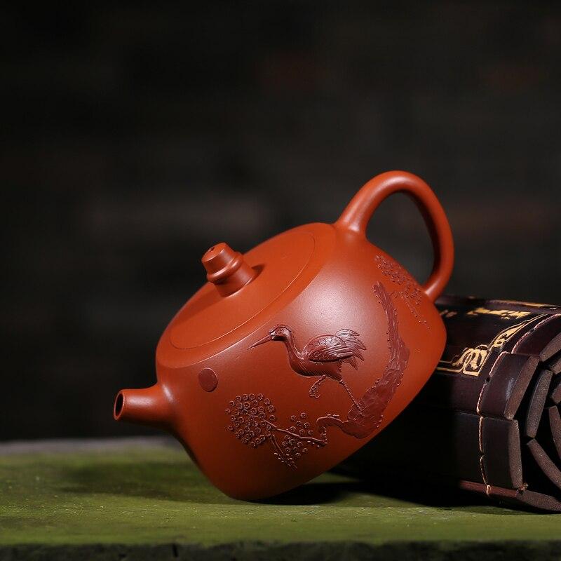 180ML Yixing auténtico arenilla morada tetera diseño vintage Dahongpao hierba todos hecha a mano de 188 agujeros de filtro de té negro hervidores de agua - 4