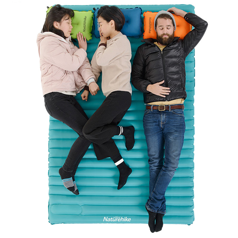 все цены на Naturehike Inflatable Camping Mat Utralight Mat Portable Outdoor Moistureproof Camping Mattress air Sleeping Pad онлайн