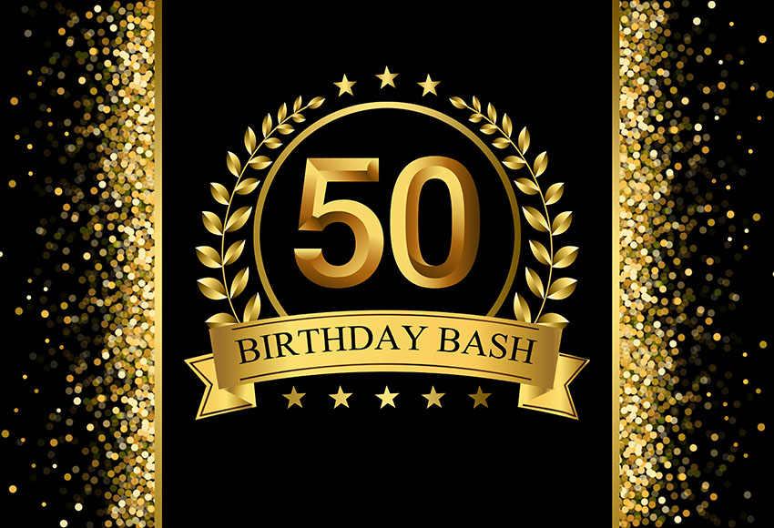 Vinyl Photography Background Adult Luxury 50th Birthday ...