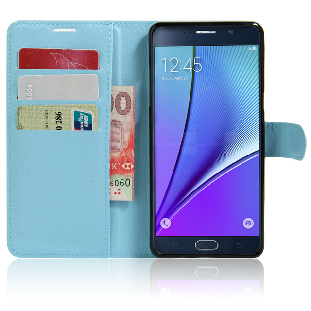 Fashion Litchi Texture Leather Case for Samsung Galaxy Note 7 Note 6 SM-N930F Flip Cover Case Wallet Stand Style With Card Slot