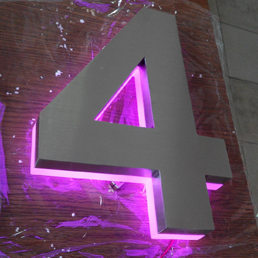 Tamaño h150mm luxello y apartamento led números y nombre de la empresa custom púrpura led de led 0 1w fiable proveedores en numbers and business signs