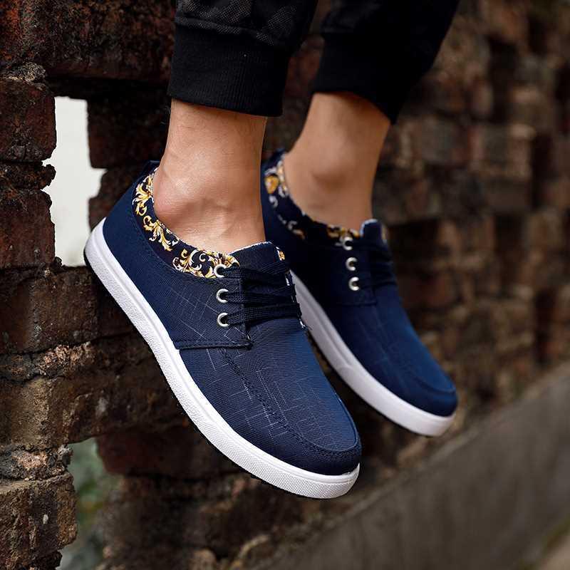 E2340 Marino A De Azul Masculinos Hombres Cómodo Zapatos Up Cool Invierno Primavera Otoño b Negro Mujer Casual Lace 7AvUZqAw