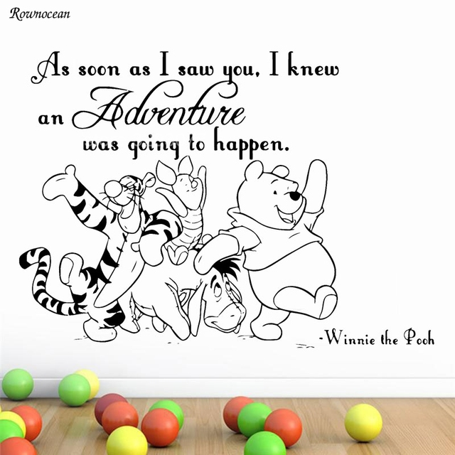 Winnie The Pooh Muursticker.Wall Decals Quotes Art Kids Nursery Winnie The Pooh Vinyl Sticker