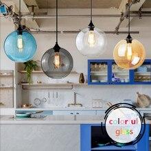 Moderne Pendelleuchte Klarem Die Ball Glas LOFT Wohnzimmer Lampe Restaurant Cafe Shop Dekoration FHRTE Leuchte
