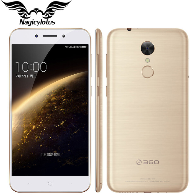 "2017 Original 360 N5 4G LTE Mobile Phone 6GB RAM 64GB ROM 5.5"" Snapdragon 653 Octa Core Android 6.0 Fingerprint 4000mAh phone"