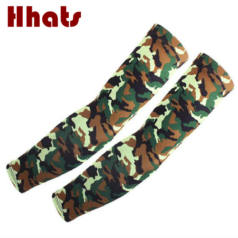 Which In Shower Women Casual Camo Arm Warmer UV Protection Men Camouflage Riding Sleeves Spring Summer Outdoor Sports Oversleeve