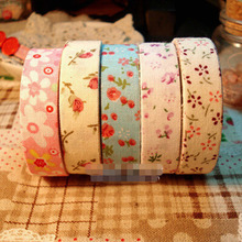 f3c8ff1818ada 10 pcs lot DIY Cute Fabric Flower Lace Stripe Making Sticky Tapes For  Decoration Scrapbooking