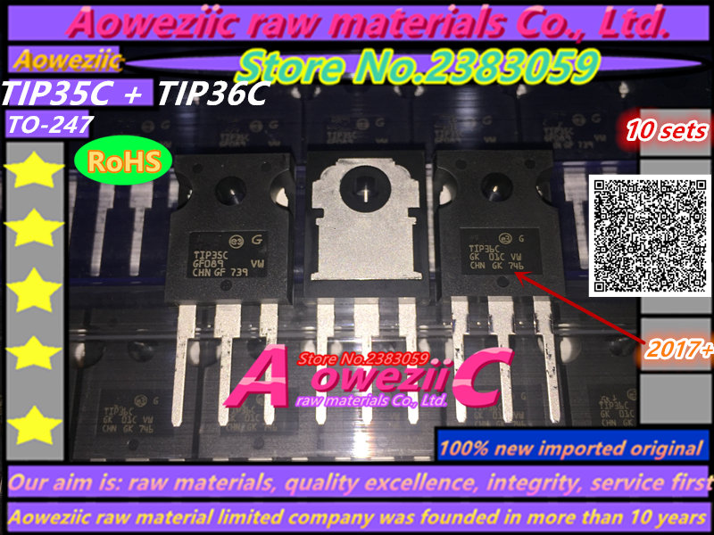 Aoweziic  2017+   100% new imported original TIP35C TIP36C TO-247 high power tube to transistor amplifier tube 100% new imported original 2mbi200u4h120 power igbt module