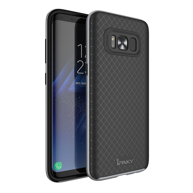new styles 8619e f3d72 US $4.99 |iPaky Original For Samsung Galaxy S8 Case S8 Plus Case PC  Frame+Silicone 2 in 1 Hybrid Back Armor Protective Phone Cover Case -in  Fitted ...