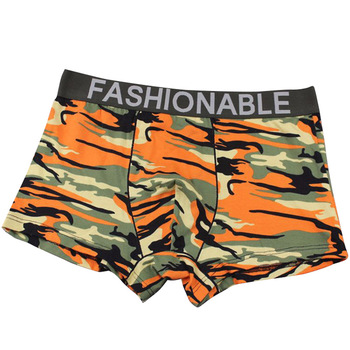 Fashion Underwear Boxer Cueca Male Panties Mens Sexy Shorts Camouflage Printed Soft Underpants Knickers Men Trunks
