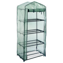 KSOL 4 TIER OUTDOOR GARDEN GREENHOUSE GROW COLD FRAME W/SHELVING & REINFORCED COVERS