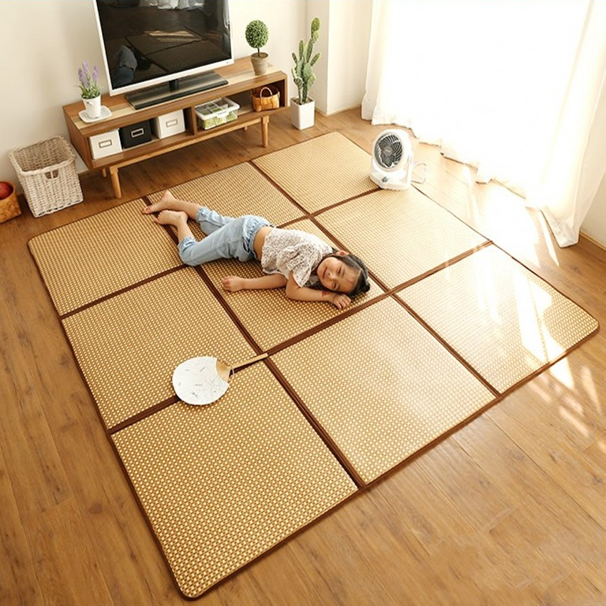 Natural plant rattan surface  living room rug for summer, cool tatami mat , Japan style easy care folding  stored carpet,Natural plant rattan surface  living room rug for summer, cool tatami mat , Japan style easy care folding  stored carpet,