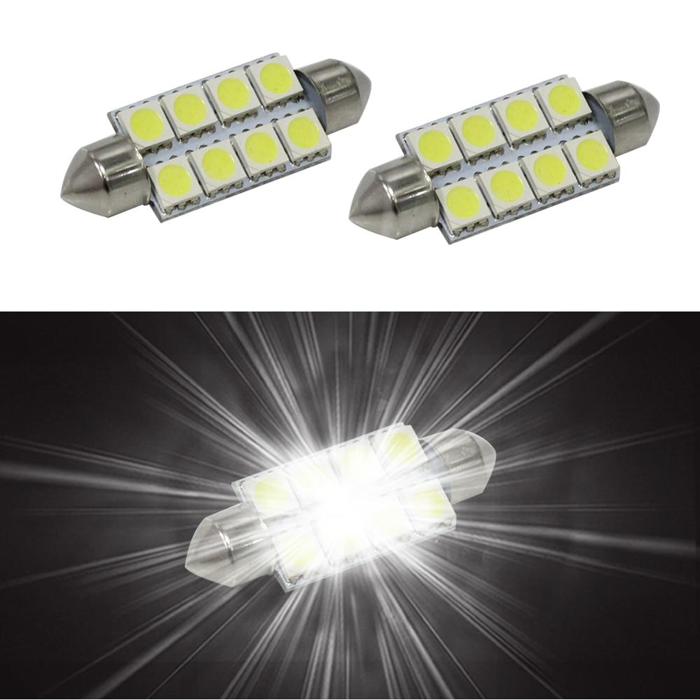 6SMD 5050 C10W SV8.5 Λυχνίες LED Ψυχρού Λευκού - Φώτα αυτοκινήτων - Φωτογραφία 4