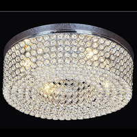 Modern LED Crystal Ceiling Lamp D50cm With K9 Crystals For Living Room Lobby Lighting Lamparas De