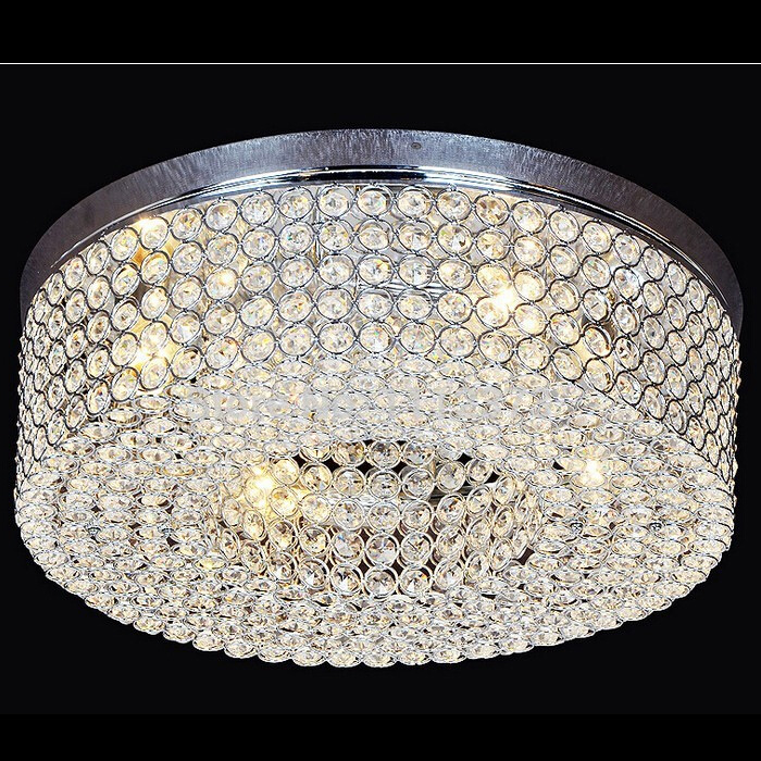 Modern LED Crystal Ceiling Lamp D50cm With K9 Crystals For Living Room Lobby Lighting lamparas de techo abajur WCL011 crystal modern led ceiling lights for living room bedroom kitchen lustre lamparas de techo avize crystal ceiling lamp fixtures