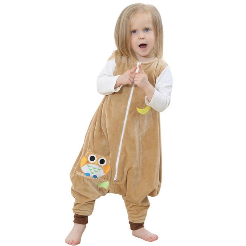 Baby Sleeping Bag Cotton Sleeveless Sleeping Ware Children Kid's Owl Dinosaur Sleep Sack Baby Sleepwear Clothes