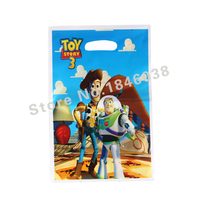 500pcs Loot Bag for Kids Birthday/festival Party Decoration Toy Story Theme Party Supplies Candy Bag Shopping Gift Bag