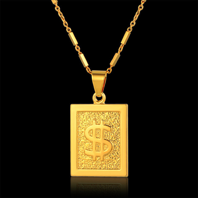 Online shop wholesale gold dollar chain bling dollar sign necklace wholesale gold dollar chain bling dollar sign necklace square pendant necklace hiphop men jewelry cheap fashion aloadofball Image collections