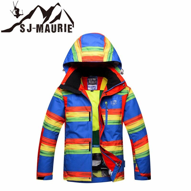 2018 Для мужчин лыжная куртка Ckeck Patttern Водонепроницаемый ветрозащитный толстые Сноубординг Толстая одежда