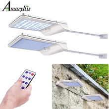 56 LED 1000 Lumens Solar Lights Outdoor Radar Sensor Aluminum Alloy Lamp Wireless Waterproof Security Lightting For Garden Wall