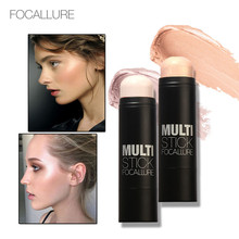Фотография FOCALLURE Face Blushes Bronzer Highlighter and Shimmer for Bright Idea Illuminating Sticker Makeup Tools Long-lasting Concealer