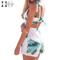 هيي الكبرى الأزياء خمر النساء السراويل بذلة مثير بوهو عطلة نمط قطعة واحدة السراويل السراويل الملابس الصيفية WKL818