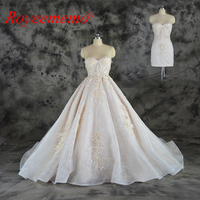 2018 new hot sale sexy design top detachable skirt Wedding Dress Luxury 3D lace Bridal gown wholesale price bridal dress factory