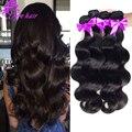8а класс virgin необработанные человеческих волос Бразильский объемная волна толстые Бразильский волос weave связки Бразильский объемная волна 4 пучки
