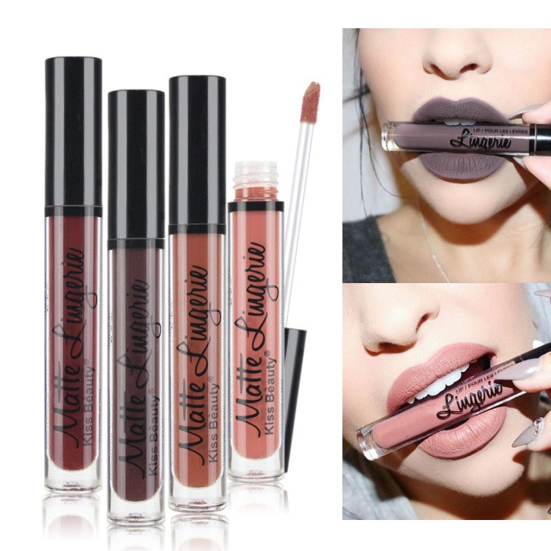 Kiss And Makeup Store: Makeup Matte Lipstick Kiss Beauty Velvet Liquid Lipstick