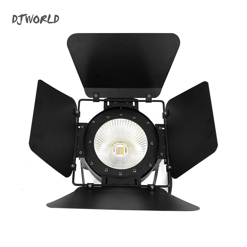 10PCS LED Par COB 100W RGBWA+UV 6IN1 DMX512 Light Stage Effect With Barn Doors For Party Wedding Nightclub DJ Stage LED free shipping 4pcs lot 200w 6in1 rgbwa uv cob led par light black with barndoor with dj stage dmx cob led par lighting