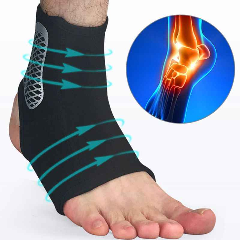 Men Women Sprain Ankle Brace Support Sleeve Compression Sport Basketball Injury Recovery Joint Pain Relief Heel Protective Socks
