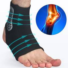 Men Women Sprain Ankle Brace Support Sleeve Compression Sport Basketball Injury Recovery Joint Pain Relief Heel Protective Socks(China)