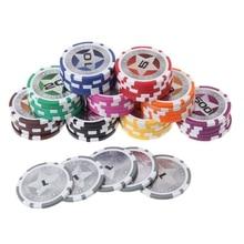 5 шт. покерные фишки казино монеты Техасский Холдем баккара глины карты для покера протектор 3