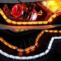 1Pcs 16 SMD LED Headlight Flexible Strip Light  Turn Switchback Lamp Daytime Running Light DRL Car-styling Decorative Light
