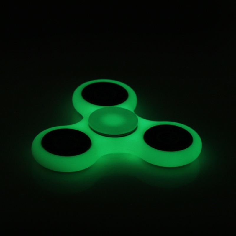 White Black Tri Spinner Fidget Toy Plastic EDC Hand Spinner For Autism And ADHD