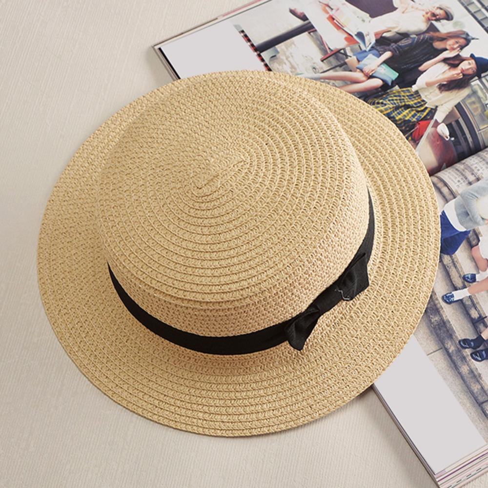 d44d5895f7946 Summer Style Child Sun Hat Beach Sunhat Fedora Hat Trilby Straw Boy ...