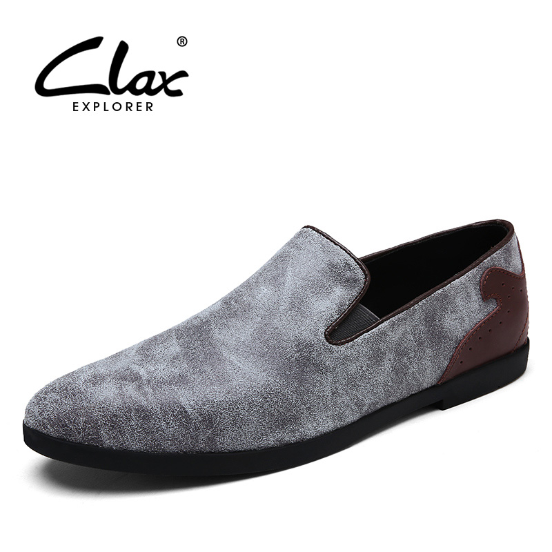 CLAX Men's Casual Shoes Suede Leather 2018 Spring Summer Fashion Loafers Male Leisure Shoe Slipony Walking Footwear Flats Shoe clax men flat casual shoes 2018 spring summer fashion leisure shoe male suede leather loafer slip on breathable walking footwear