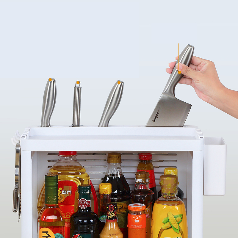 050 Double layer combined rack Multi function kitchen knife holder chopsticks tube double deck storage rack 42 22 35cm in Storage Holders Racks from Home Garden