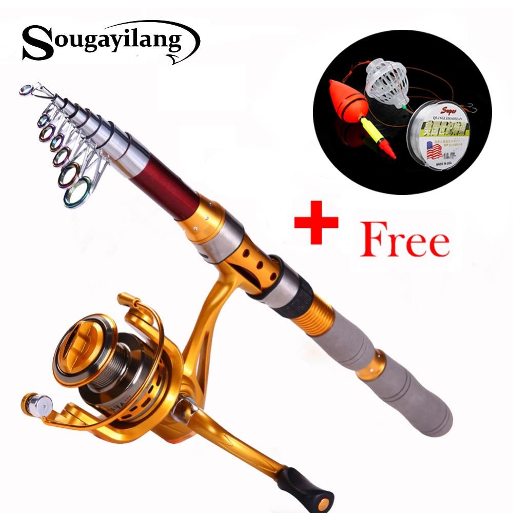 Sougayilang 1.8-3.0m žvejybos lazdelė ir ritė Olta anglies - Žvejyba