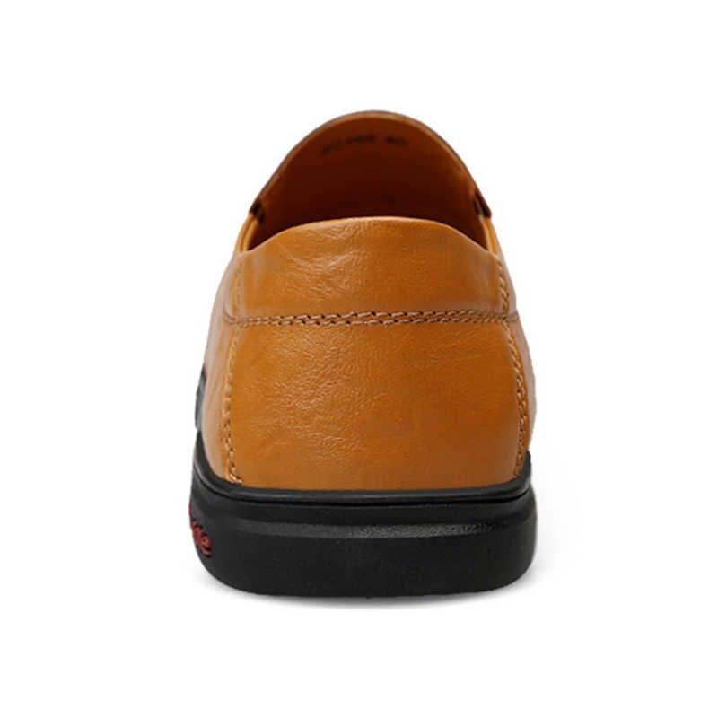 LINGGE ผู้ชาย Loafers Slip บนรองเท้าผู้ชายขับรถขี้เกียจรองเท้า Moccasin Penny รองเท้า Gommino รองเท้า Loafers