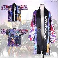 NEW Game Anime Cosplay Costume Cloak Haori Coat Top kimono Pajamas Halloween Christmas OW D.VA Tracer Mercy Shimada Hanzo Gift