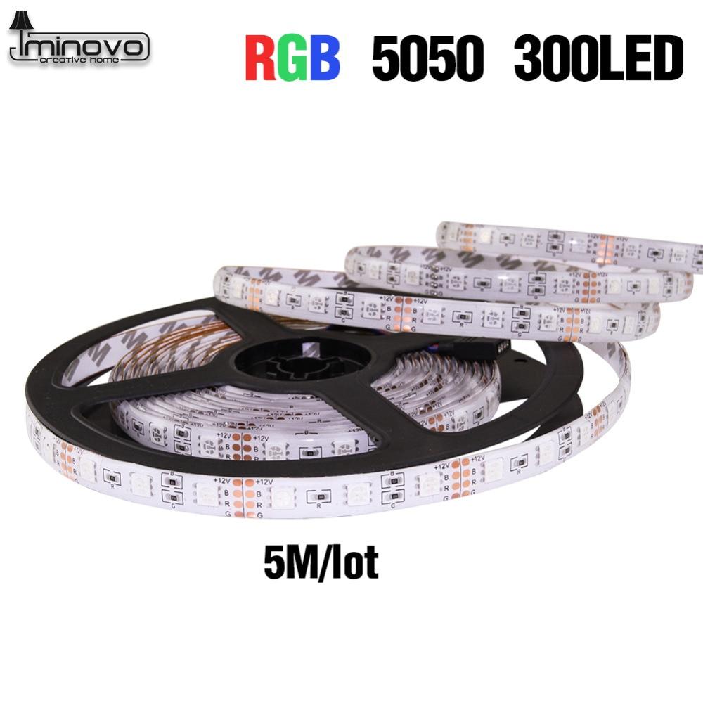 IMINOVO 2Pcs Waterproof 5M Led RGB Strip 300Leds 5050SMD DC 12v Lighting For Home Outdoor Garden Decoration Flexible Ribbon Tape