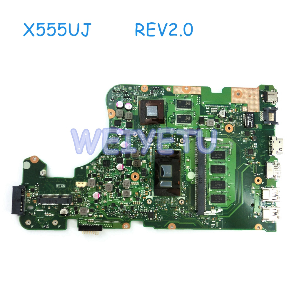 Computer & Office X555uj 4g Ram With I5/i7cpu Motherboard Rev2.0 For Asus X555ub X555uj X555u Laptop Mainboard 90nb0ag0-r01000 Tested Working High Standard In Quality And Hygiene