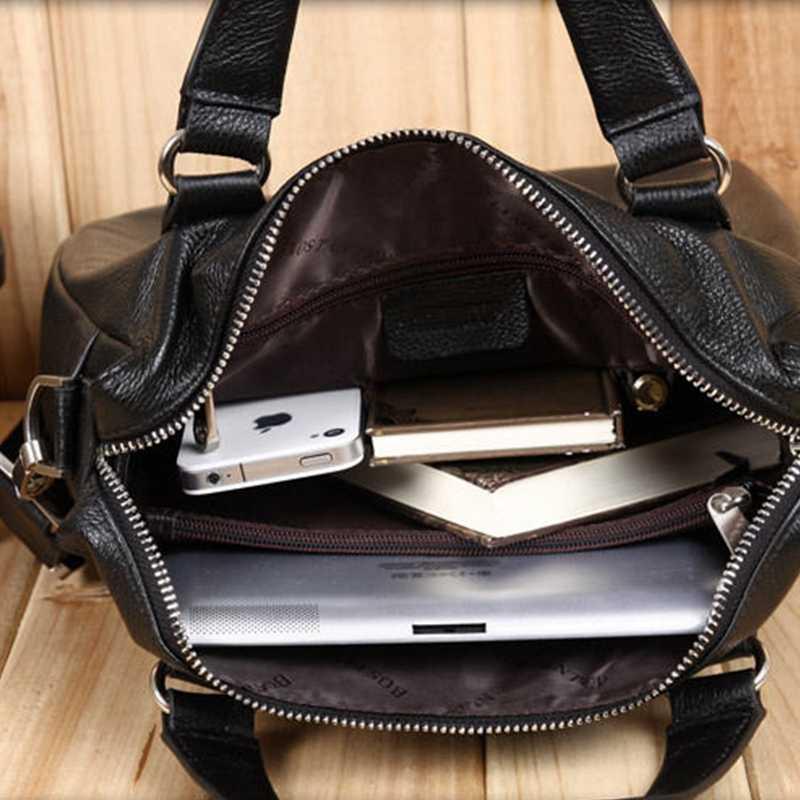 2018 de Couro Genuíno Bostanten Novo Saco Qulity Bom Negócio dos homens Reais de Couro Bolsa Tote Bolsa de Ombro Messenger Briefcase Laptop